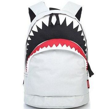 University College Backpack Fashion Big Mouth Shark   Student School  Bags for Teenagers Mochila Casual Girls Travel DaypackAT_63_4