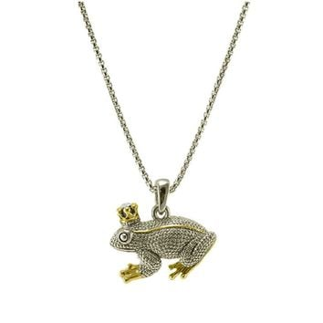 Orsa Two-Tone Frog Fashion Pendant
