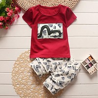 BibiCola Summer Baby Boys Clothing Kids Boy Clothes Tracksuit Short Sleeve T-shirt+Shorts 2pcs Outfit Suit Children Clothes Sets