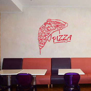 kik1053 Wall Decal Sticker Pizza Italian Restaurant Pizzeria
