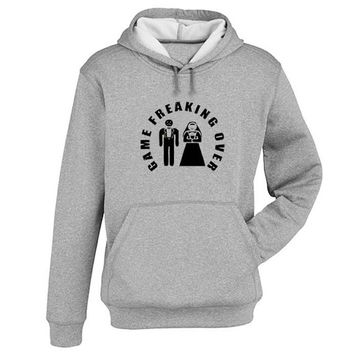 game freaking over Hoodie Sweatshirt Sweater Shirt Gray and beauty variant color for Unisex size