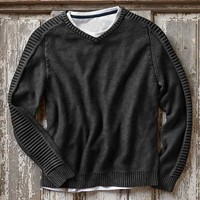Effortlessly Cool Men's Sweaters - Midnight Cylinder Sweater - Carbon2Cobalt