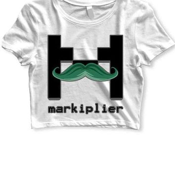 DCCKL83 Markiplier Womens Crop T Shirt