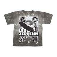 Led Zeppelin Men's  Zeppelin Poster Tie Dye T-shirt Olive