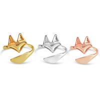 Chic Adjustable Fox Ring - Gold, Rose Gold and Silver