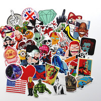 2016 50pcs Random Mixed Sticker for Snowboard Laptop Luggage Car Fridge DIY Styling Vinyl Decal home decor Stickers Pegatinas