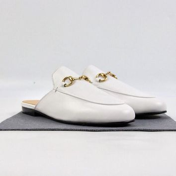 Gucci Princetown leather slipper White - Best Deal Online