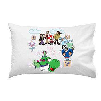 Pillow Case Single Pillowcase - 'The Green Submarine' Video Game & Band Parody
