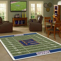 New York Giants NFL Football Field Rug