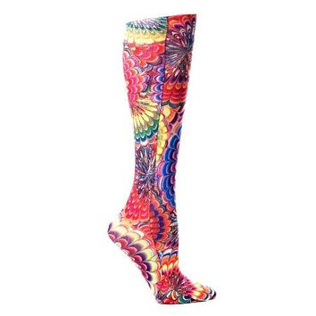 Lightweight Patterned Compression Socks in Austin Powers