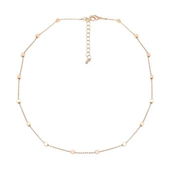 Simple Cube Block Chain Choker Necklace