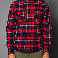 Classic Fit Plaid Shirt Red/Navy
