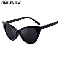 SIMPLESHOW Sexy Cat Eye Sunglasses Women Vintage Cat Glasses Chic Ladies Sun Glasses Female Eyewear Luxury Brand Oculos UV400