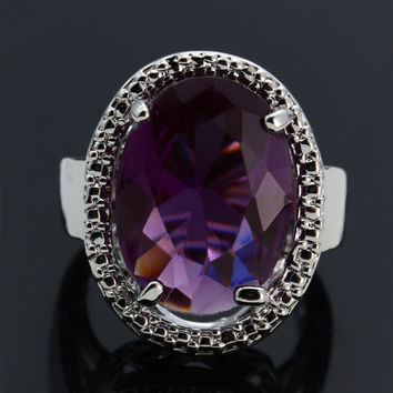 Wedding Rings Amethyst Rings For Women Fine Jewelry Anel Masculino Feminino Anelli Donna Anelli Uomo Bague Homme Men Jewelry