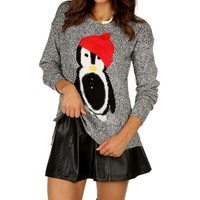 Sale-charcoal Marled Penguin Sweater