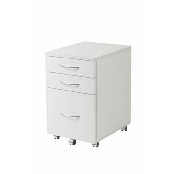 Eurostyle 27814 Laurence White Leather High File Cabinet
