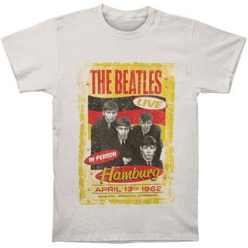 Beatles Men's  Hamburg 1962 Poster T-shirt Grey Rockabilia