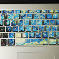 Skins for laptop Keyboard Stickers macbook pro air deacal keyboard sticker keyboard decal gift 星空