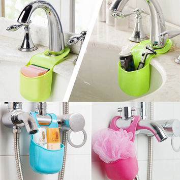 3 Color universal Multi-functional Cutlery Sponge Button Drying Rack Drainer Dryer Dish Holder Organizer Kitchen Bathroom Helper