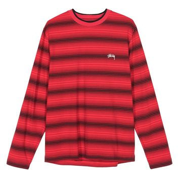 Ombre L/S Crew in Red