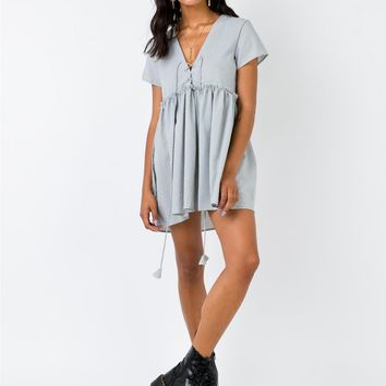 Maritimo Mini Dress Blue | Princess Polly