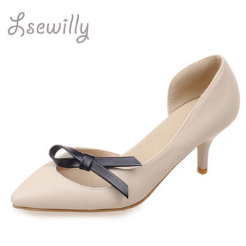 Lsewilly 2017 Women Shoes Pointed Toe Pumps Dress Shoes High Heels Shoes Wedding shoes zapatos mujer red Stiletto Pumps SS811