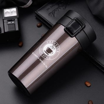 Coffee Boy 380ml thermo mug thermos bottle 304 stainless steel tumbler women student straight cup vacuum flask termos thermocup