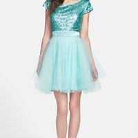 Trixxi Sequin Bodice Tulle Fit