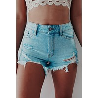 REORDER: When You're Ready Shorts: Denim
