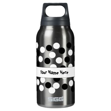 White and Black Polka Dot Reusable Bottles