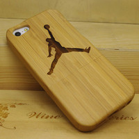 Flying Man iPhone 5 Bamboo Case