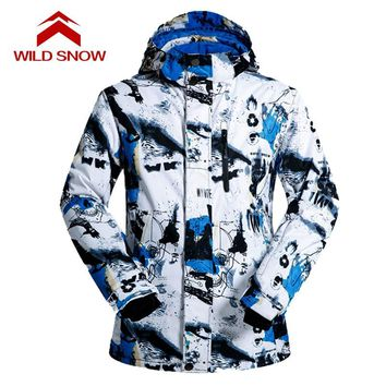Men's Snow Skiing Jacket Serviceable Skiwear High Windproof Waterproof Insulated Jacket For Mountain Skiing Snowboarding Clothes
