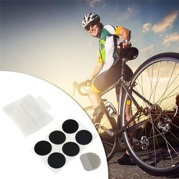 Tire Repair Kits Self-adhesive Bicycle Tire Patch Puncture Repair Patches (6 PCS Patches+1 PC File Sheet + 1 PC Portable PP Box)