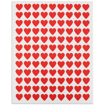 Mini Red Heart Stickers