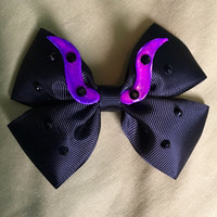 Maleficent Style Hair Bow