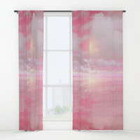 Out to Sea II Window Curtains by vivianagonzalez