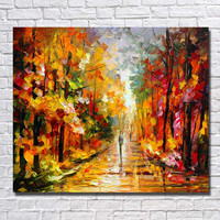 Art, Oil Hand-painted picture, 100% home-made Tree Street modern No Frame