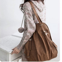 2016 Lady Korea Style PU Leather Handbag Shoulder Bag Tote Messenger Bag