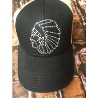 Original Cowgirl Clothing Rhinestone Indian Chief Mesh Hat