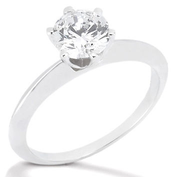 F VS1 Diamonds solitaire white gold 2.25 ct. ring new