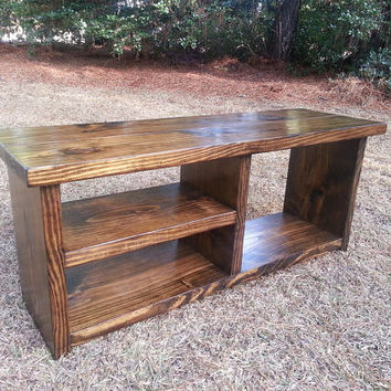 Rustic Boot Bench With Shoe Rack And Boot Storage - Cubby Bench - Entryway Shoe Organizer