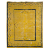 Antique Overdyed Mustard Rug - 9 x 11'4""