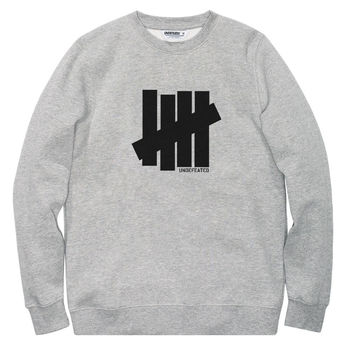 Undefeated: 5 Strike Crewneck Sweatshirt - Grey Heather (FW15)