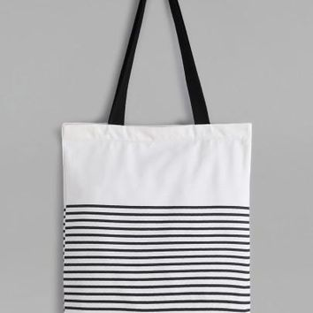 White Stripe Canvas Gabby Bag
