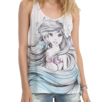 Disney The Little Mermaid Ariel Sketch Girls Tank Top
