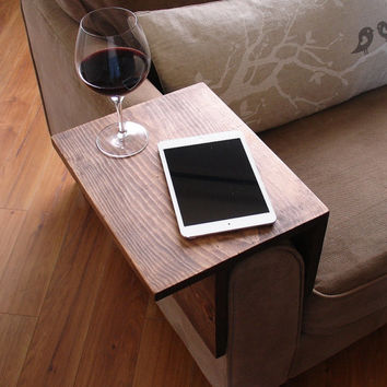 Simply Awesome Couch Sofa Arm Rest Wrap Tray Table for Tablet Food & Drinks