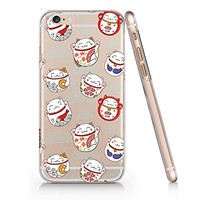 Japanese Lucky Fortune Cats Slim Iphone 6 PLUS 6S PLUS Case, Clear Iphone 6 PLUS 6S PLUS Hard Cover Case For Apple Iphone 6 PLUS /6S PLUS-Emerishop