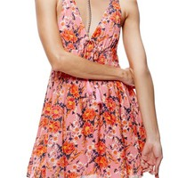 Free People Floral Print Minidress | Nordstrom