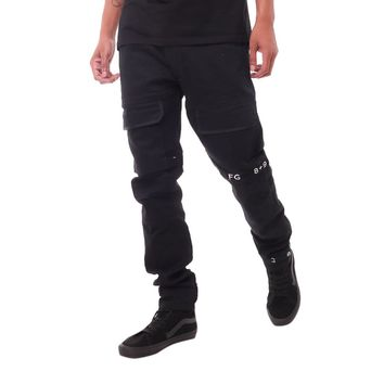Strapped Up Slim Utility Pant Black
