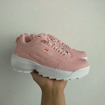 fila women all match casual fashion letter thick bottom sneakers running shoes